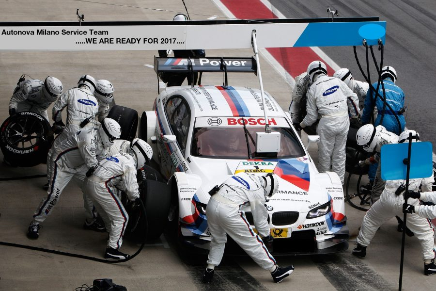 Spielberg (AT) 03th June 2012. BMW Motorsport. Martin Tomczyk (DE) BMW M Perfomrance Parts M3 DTM, First Pit Stop BMW Team RMG. This Image Is Copyright Free For Editorial Use © BMW AG (06/2012).