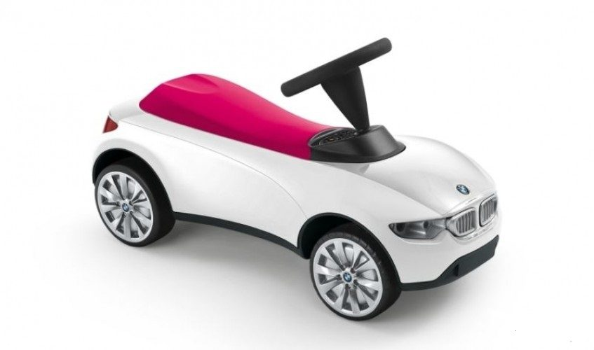 BMW Baby Racer White/Raspb. Red