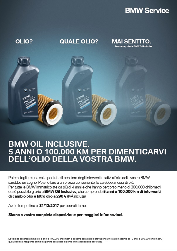 BMW Oil Inclusive