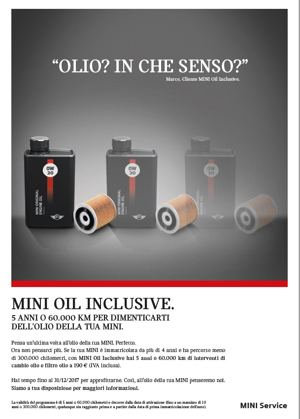 MINI Oil Inclusive