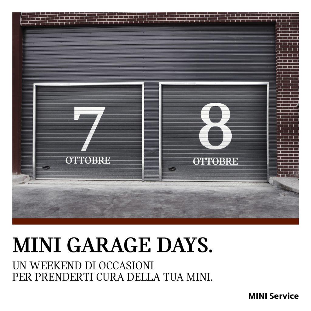 7 E 8 Ottobre MINI Garage Days