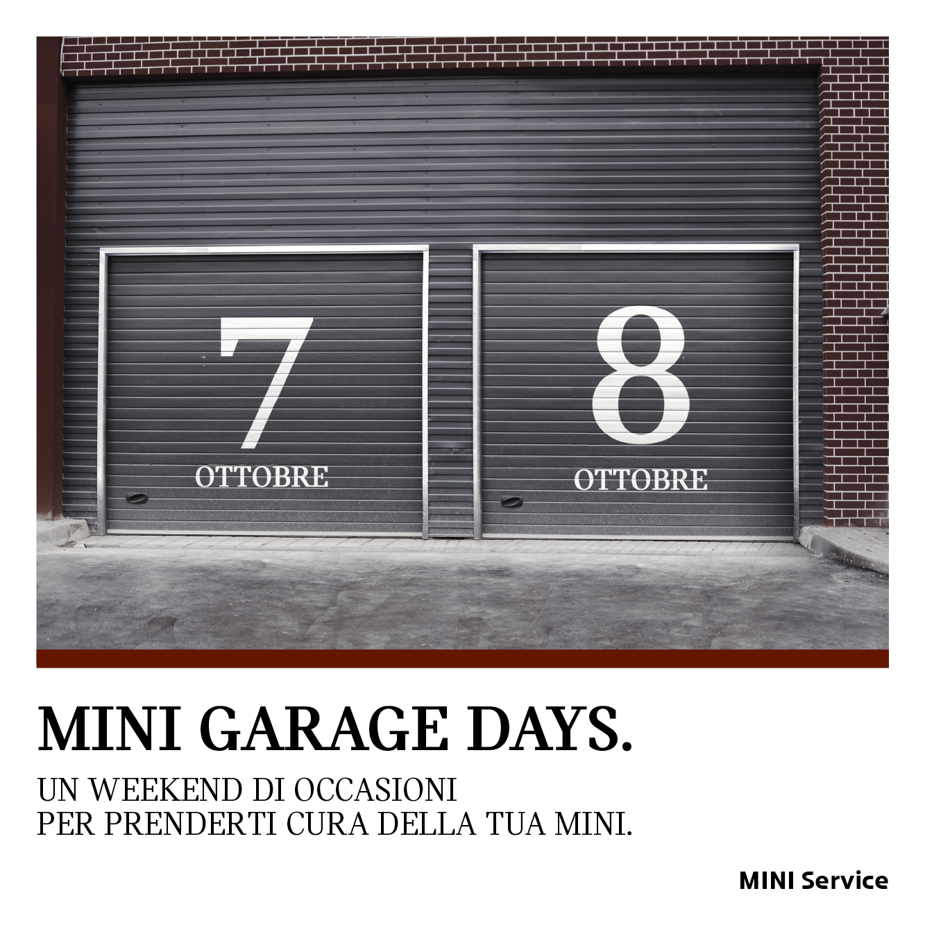 7 E 8 Ottobre MINI Garage Days