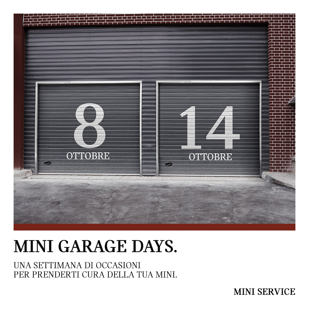 84242 MINI GARAGE DAYS 8 14 OTTOBRE POST FB