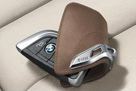 Astuccio Portachiavi In Pelle Mokka BMW
