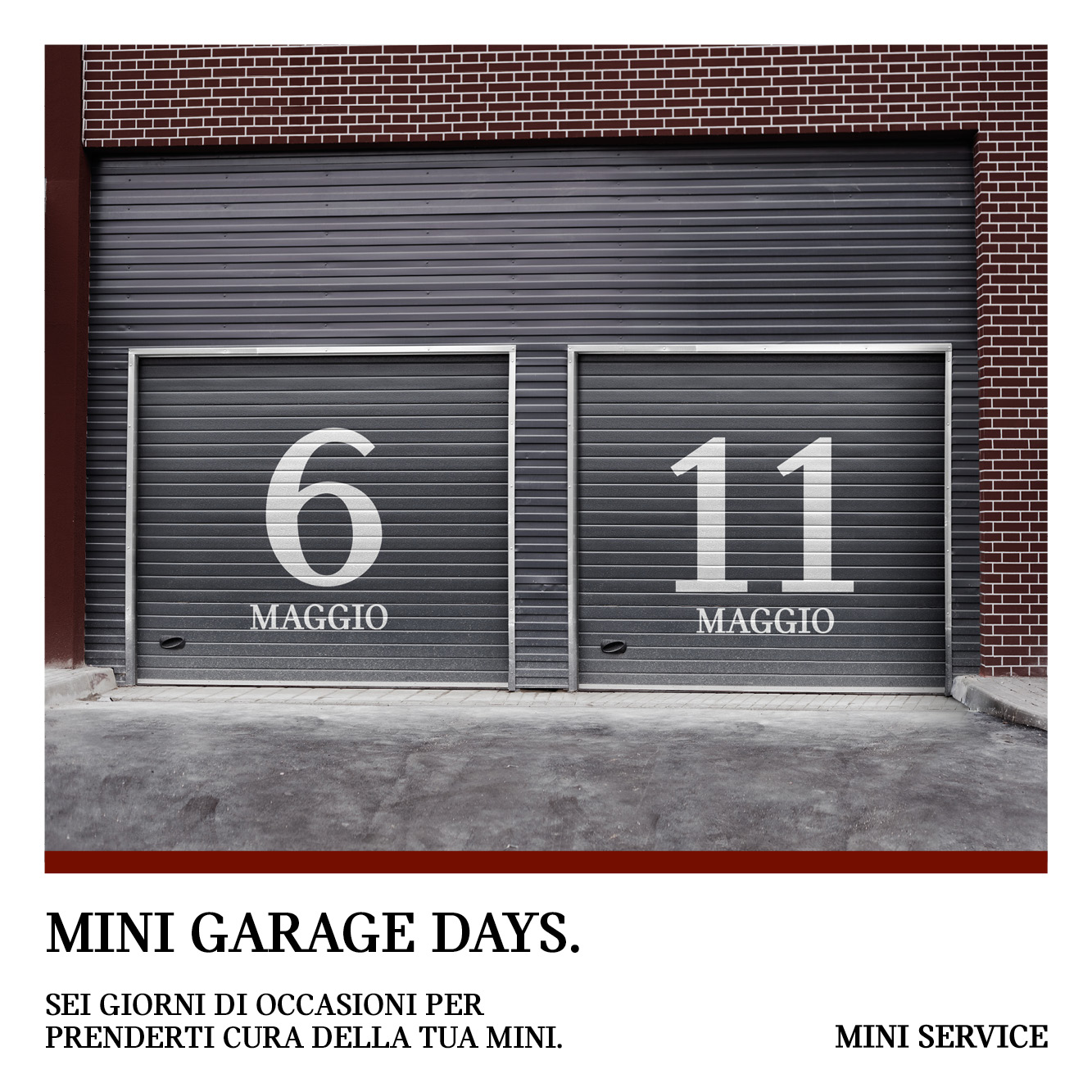 106078 MINI GARAGE DAYS 6 11 MAGGIO POST FB 1000x1000 54FVgKc